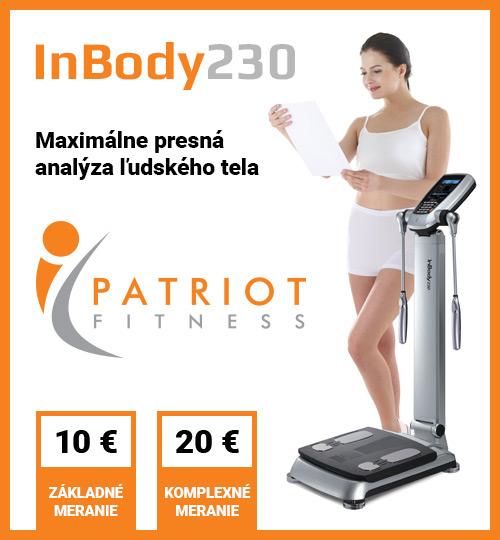 InBody230 - Maximálne presná analýza ľudského tela - v Patriot Fitness v Hoteli Patriot***