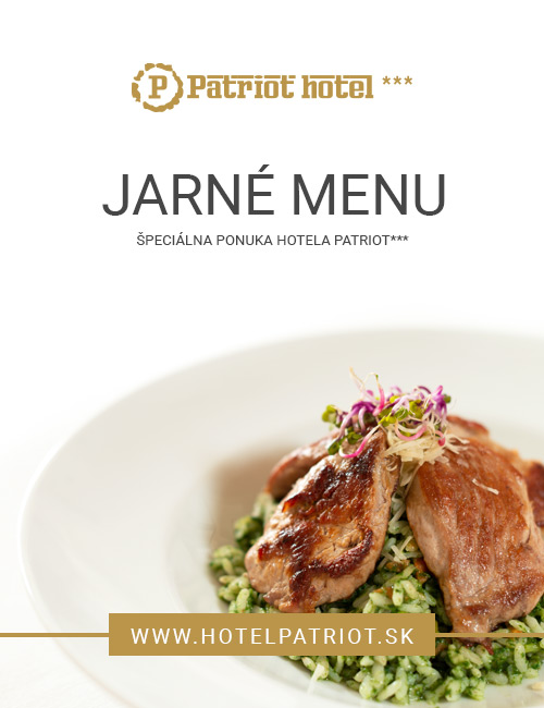 Jarné menu Hotela Patriot***