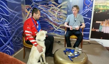 Michal Ivančo s Aresom v TV Naša
